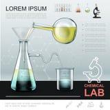 Calibre chimique réaliste d'expérience illustration libre de droits