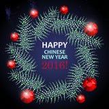 Calibre chinois de carte postale de nouvelle année de vecteur Photo libre de droits