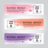 Calibre coloré abstrait de Web de bannière de dessin géométrique de vecteur, bannière de fond Photos libres de droits