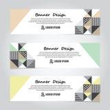 Calibre coloré abstrait de Web de bannière de dessin géométrique de vecteur, bannière de fond Photo stock