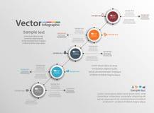 Calibre coloré d'infographics avec cinq étapes, options Pour infographic, affaires, bannière, web design, présentation Images libres de droits