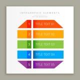 Calibre coloré de bannière d'Infographic Image stock