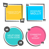 Calibre coloré de bulle de la parole de citation illustration de vecteur