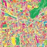 Calibre coloré de carte de Santiago Chile illustration de vecteur