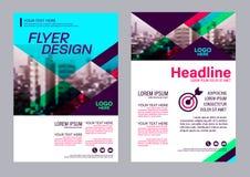 Calibre coloré de conception d'insecte Conception de disposition de brochure Image libre de droits