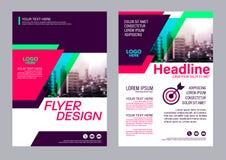 Calibre coloré de conception d'insecte Conception de disposition de brochure Images stock