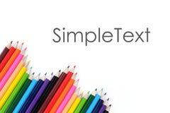 Calibre coloré de crayon Photographie stock libre de droits
