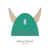 Calibre coloré médiéval d'emblème de logo, style plat Photos libres de droits