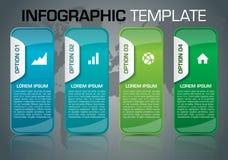 Calibre coloré moderne d'options d'infographics avec le bleu a Image libre de droits