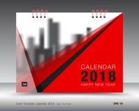 Calibre 2018, concept rouge de calendrier de couverture de couleur rouge illustration de vecteur