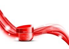 Calibre cosmétique d'annonces de beauté de crème corporelle illustration stock