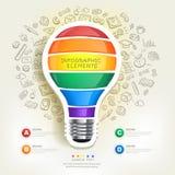 Calibre créatif d'infographics avec l'ampoule Image libre de droits
