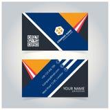 Calibre créatif de bleu et de Gray Business Card illustration de vecteur