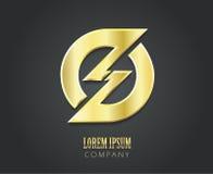 Calibre créatif de conception de logo de vecteur Image libre de droits