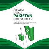 Calibre créatif de vecteur d'illustration de conception d'affiche de célébration de Jour de la Déclaration d'Indépendance du Paki illustration de vecteur
