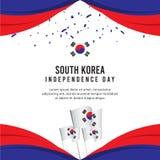 Calibre créatif de vecteur d'illustration de conception de célébration de Jour de la Déclaration d'Indépendance de la Corée du Su illustration de vecteur