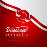 Calibre créatif de vecteur d'illustration de conception de célébration de Jour de la Déclaration d'Indépendance de l'Indonésie illustration stock