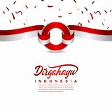 Calibre créatif de vecteur d'illustration de conception de célébration de Jour de la Déclaration d'Indépendance de l'Indonésie illustration libre de droits