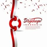 Calibre créatif de vecteur d'illustration de conception de célébration de Jour de la Déclaration d'Indépendance de l'Indonésie illustration de vecteur
