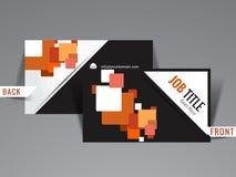 Calibre créatif moderne de carte de visite professionnelle de visite Images libres de droits