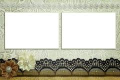 Calibre décoratif avec des cadres de photo Photo libre de droits