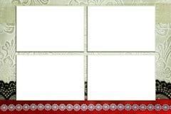 Calibre décoratif avec des cadres de photo Photographie stock