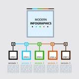Calibre d'étapes d'Infographics de vecteur illustration stock