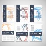 Calibre d'affaires de brochure Conception abstraite de vague de fond de vecteur pour votre couverture, livre, magazine ou présent Images libres de droits