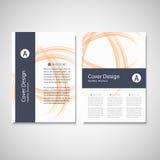 Calibre d'affaires de brochure Conception abstraite de vague de fond de vecteur pour votre couverture, livre, magazine ou présent Photos stock