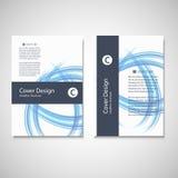 Calibre d'affaires de brochure Conception abstraite de vague de fond de vecteur pour votre couverture, livre, magazine ou présent Photo libre de droits