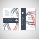 Calibre d'affaires de brochure Conception abstraite de vague de fond de vecteur pour votre couverture, livre, magazine ou présent Photographie stock