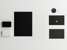 Calibre d'affaires de maquette réglé sur le fond blanc Photographie stock libre de droits