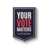 Calibre 2016 d'affiche d'élection illustration libre de droits
