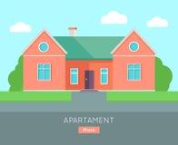Calibre d'affiche de bannière d'appartement Chambre de Separete Images stock
