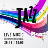 Calibre d'affiche de festival de jazz Jazz Music saxophone Jour international de jazz Élément de conception de vecteur illustration stock