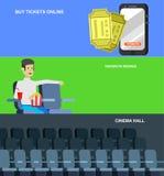 Calibre d'affiche de film de cinéma Photos libres de droits