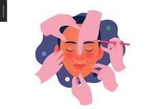 Calibre d'assurance-maladie - cosmétique, chirurgie en plastique et esthétique illustration libre de droits