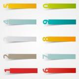Calibre d'autocollants de nombre de vecteur Papier de couleur Photographie stock
