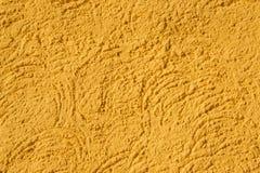 Calibre d'or de luxe d'art sous la forme de forme dunaire de courbure de rivage arénacé de bord de la mer dans le style artistiqu photo libre de droits