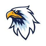 Calibre d'Eagle Head Logo Vector Design illustration libre de droits