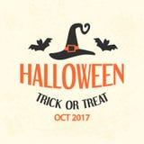 Calibre d'emblème de Halloween, Logo Badge Photos libres de droits
