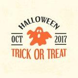 Calibre d'emblème de Halloween, Logo Badge Photo libre de droits