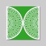 Calibre d'enveloppe avec l'ornement de dentelle de mandala Photos libres de droits