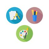Calibre d'icône d'étude Photos libres de droits
