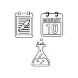 Calibre d'icône d'étude Images stock