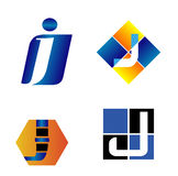 Calibre d'icône de logo de Letter J Company Images libres de droits