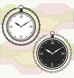 Calibre d'icône de montre de poche de vintage Photos libres de droits