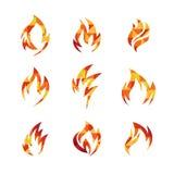 Calibre d'icône du feu Images libres de droits
