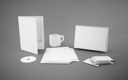 Calibre d'identité d'entreprise sur le fond gris Photo libre de droits