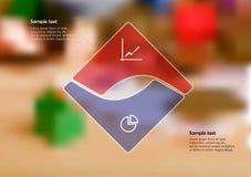 Calibre d'illustration d'Infographic avec le squeare divisé à deux parts illustration de vecteur